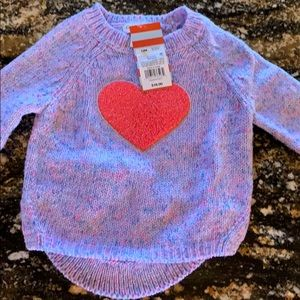 NWT sweater Cat and Jack